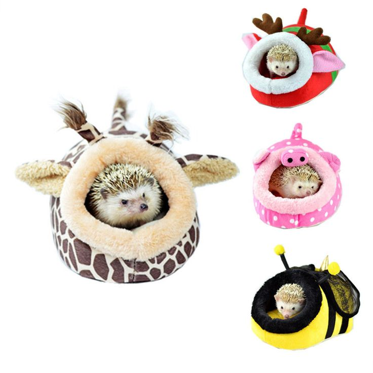 Small Animal Hamster Rat Hedgehog Squirrel House Bed Nest With Pad For Cage New #Unbranded