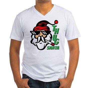 Thug Santa Claus Life Men's V-Neck T-Shirt. Tags Keyword: gifts christmas, grandma gifts christmas, hottest gifts christmas 2015, hot gifts christmas 2015, men gifts Christmas, make your own gifts christmas, kids crafts gifts christmas, inexpensive gifts christmas, popular gifts christmas 2015, parents gifts christmas, personalized baby gifts christmas, mothers gifts christmas, quick gifts christmas, railroad train gifts Christmas