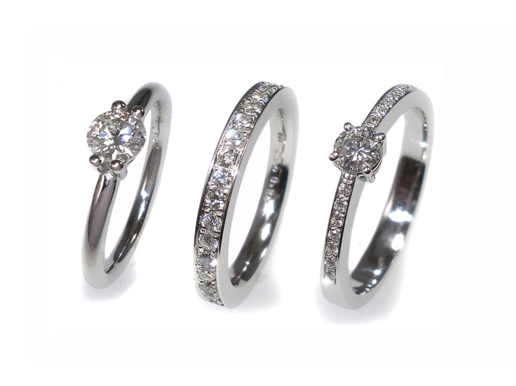 Three white gold diamond rings - wow - don't know wich one I should choose !