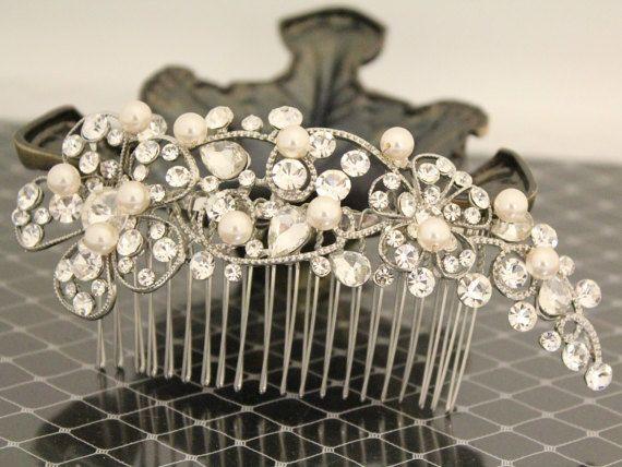Peigne à cheveux perle pince à cheveux mariage par ChantalEveleen