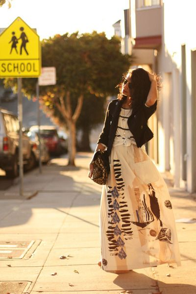<3: Maxi Dresses, Fashion, Jeans Jackets, Clothing, Hippie Style, Maxi Skirts Outfits, Long Skirts, Maxis, The Dresses