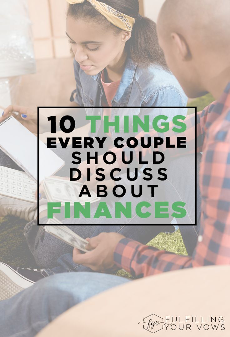If not handled carefully, finances can quickly become a sort spot in marriage. Come see these 10 things every couple should discuss about finances. via @carliekercheval