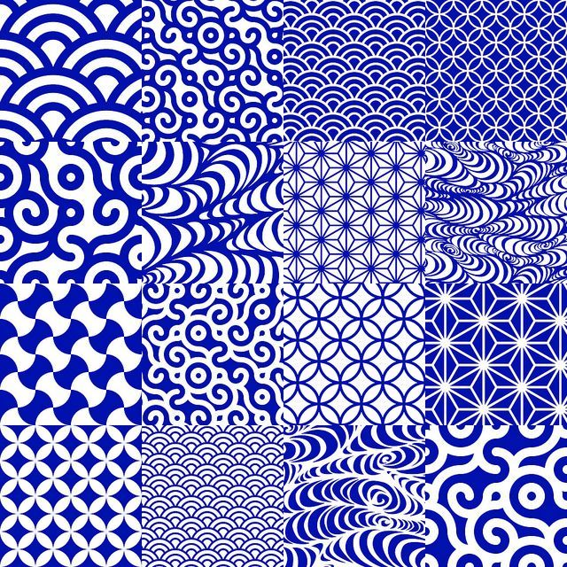 japanse patronen Handgemaakte tegels kunnen coordianated kleur en maat re.  vorm, textuur, patroon, enz. door keramische vormgeving studios