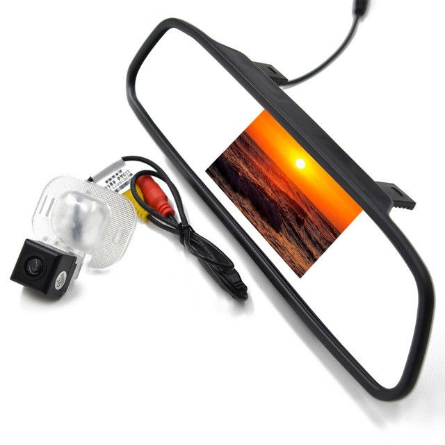 4.3 Inch Car Rear View Mirror Monitor Parking Monitor with Special Car Reverse Camera for Hyundai Solaris Verna Sedan