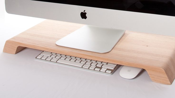 A Breathtakingly Simple Computer Stand That Helps Organize Your Desk | Lift your desktop monitor and hide some clutter with Lifta. | Credit:Photo: Made By Cardinal | From WIRED.com