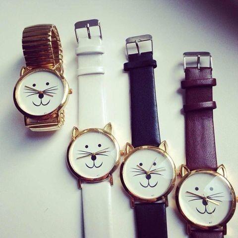 Cat watch - relógio de gato