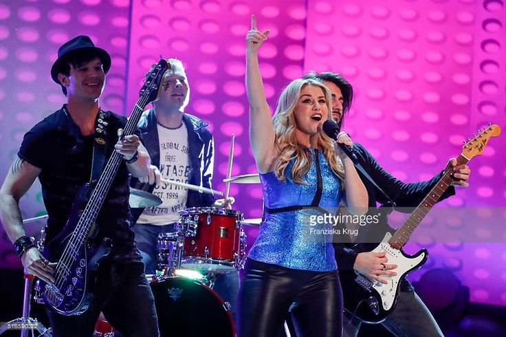 Beatrice Egli performs at the TV show 'Willkommen bei Carmen Nebel' on March 19, 2016 in Magdeburg, Germany.
