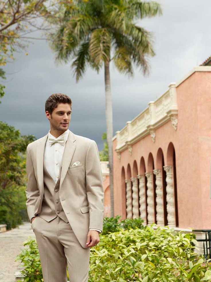 Allure Tan Tuxedo.  Jacket, flat front pants, and vest.