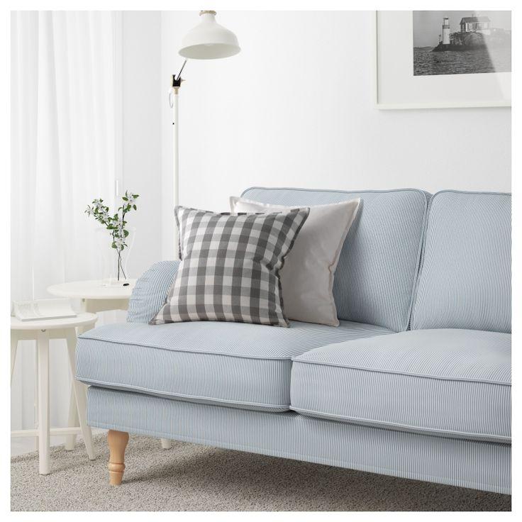Stocksund <br> Диван-кровать, Remvallen синий / белый, светло-коричневый / др
