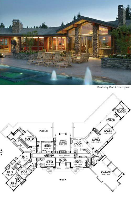 Best 25 Ranch style floor plans ideas on Pinterest Ranch house