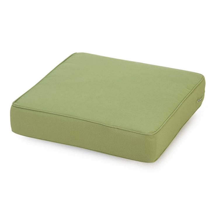 Coral Coast Classic 22.5 x 21.5 in. Outdoor Deep Seating Seat Cushion Sage Green - M071-1-AFS029-SAGE