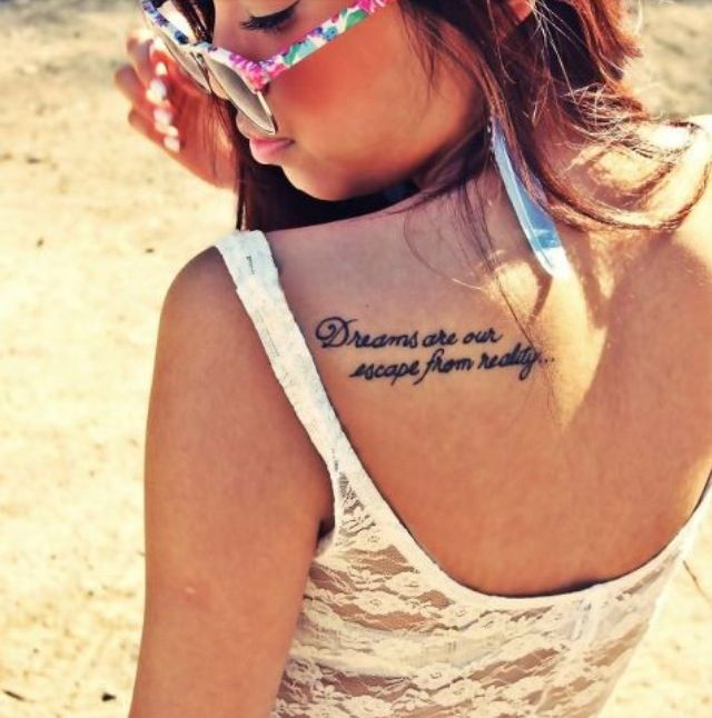 Tattoo Quotes Dreams: Dreams Are Our Escape From Reality