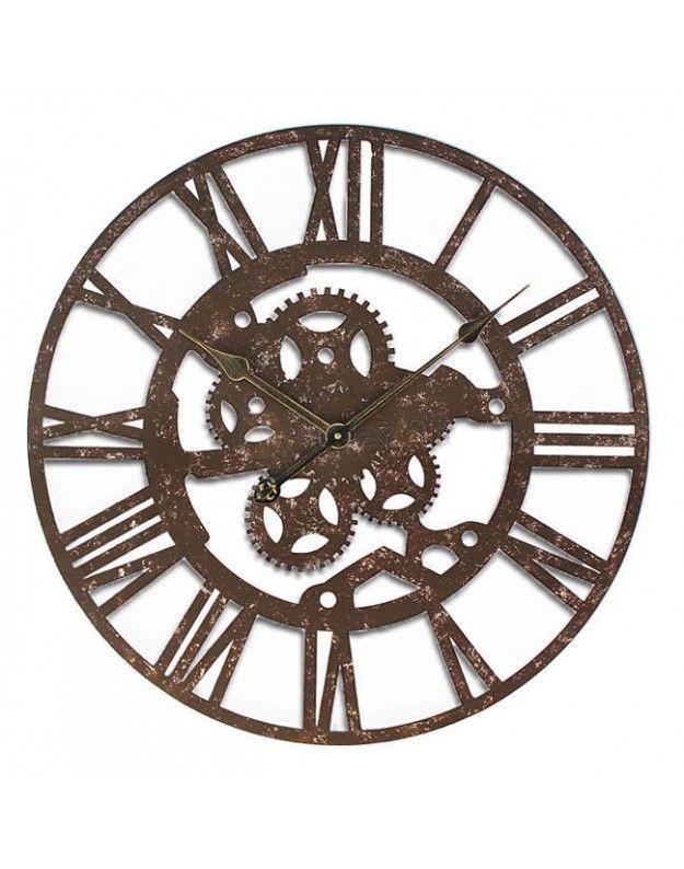 "Metallic Wall Clock ""FACTORY"" 60 cm"