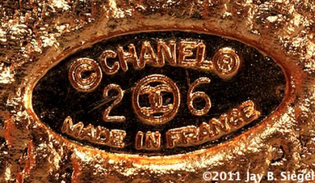 What Do the 7 CHANEL Costume Jewelry Marks Mean?: Chanel Oval Mark - Late 1980s