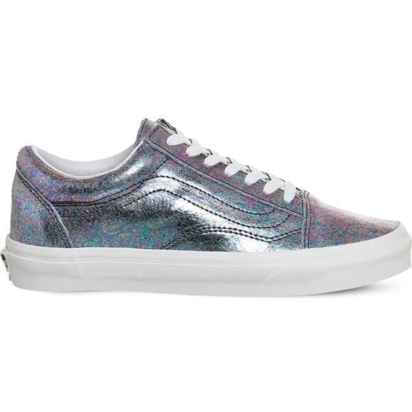 VANS Old Skool metallic trainers ($84) ❤ liked on Polyvore featuring shoes, sneakers, laced up shoes, lace up sneakers, lacing sneakers, rubber sole shoes and vans sneakers