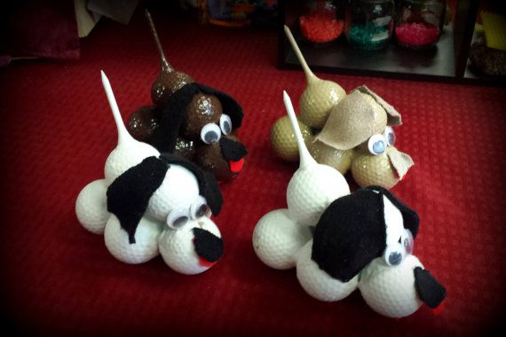 Golf Ball Doggies by MarysMakingRoom on Etsy, $15.00