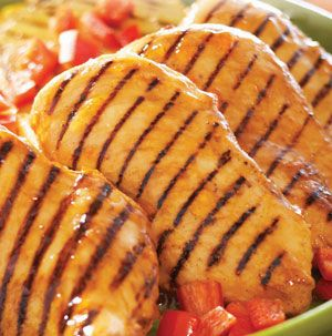 Hawaiian Grilled Chicken is low-fat, low-carb and low-calorie, but high in taste and satisfaction. Lightly oil the grill grates to prevent sticking.