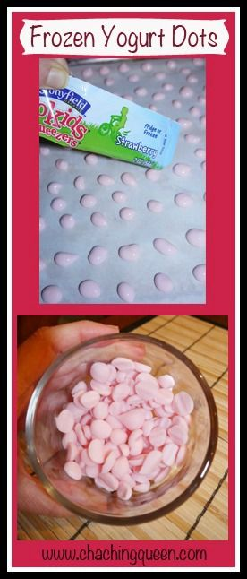 Frozen Yogurt Dots – Healthy Dessert for Kids- made with coconut yogurt with no dyes... Even healthier