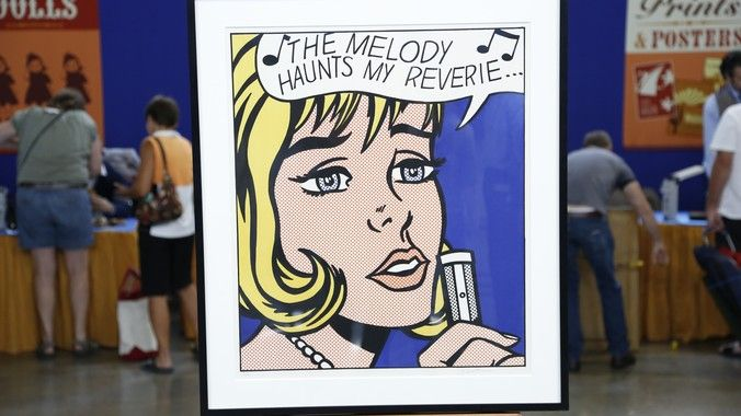 "1965 Roy Lichtenstein ""The Melody Haunts My Reverie"" Screenprint 