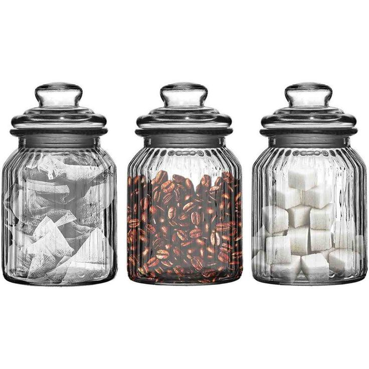 New black and white tea coffee sugar canisters at temasistemi.net
