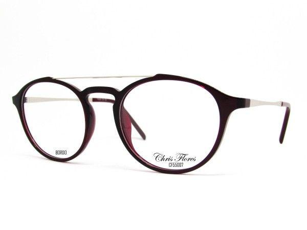 Rx Chris Flores Tr90 Cf55007482014039 Feminino Oculos De Grau