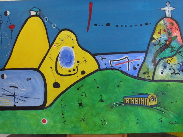 Panorama of Rio de Janeiro, dressed in Miró