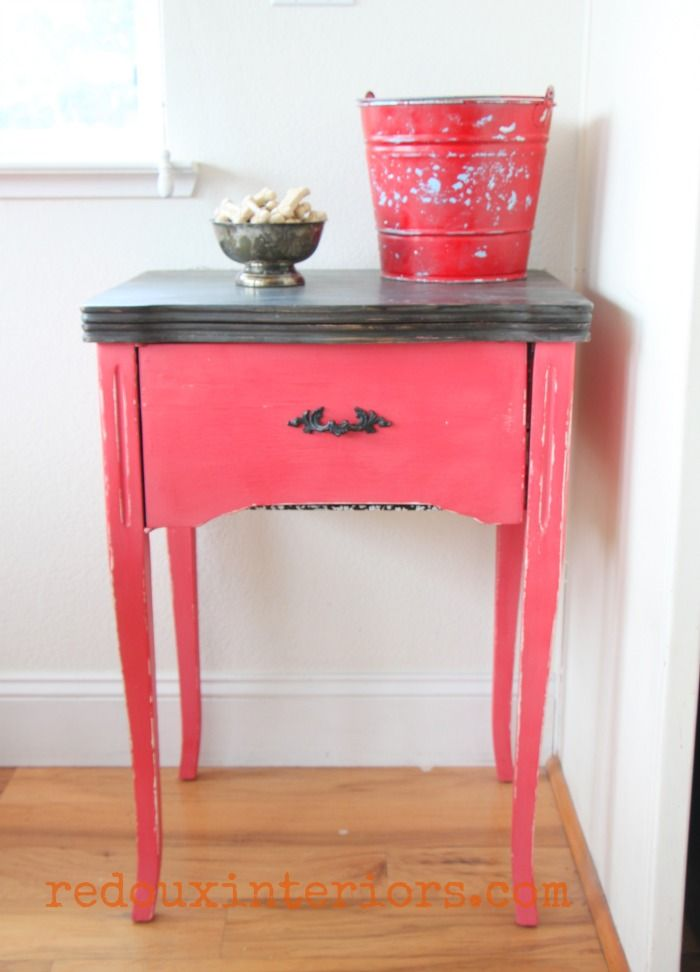 Sewing cabinet cece caldwells jersey tomato red for Cece caldwell kitchen cabinets
