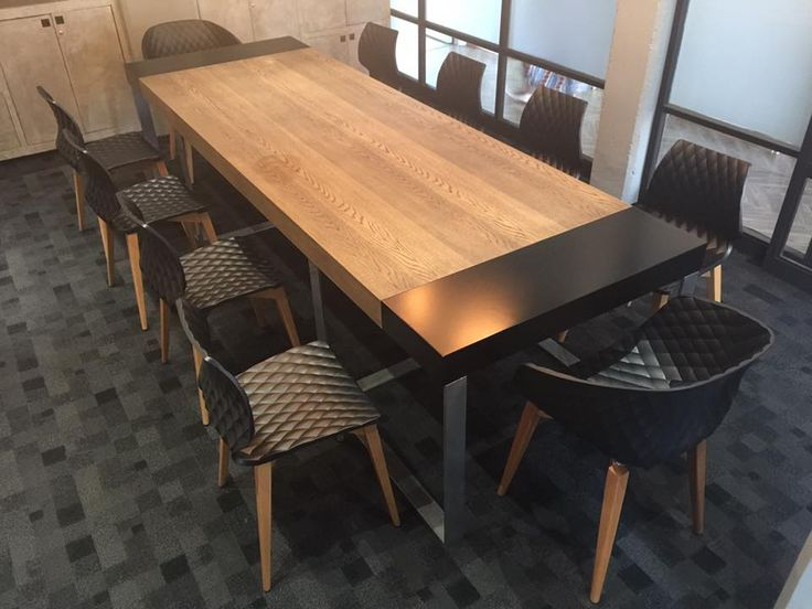 Blacksmith Interiors Boardroom, with the Uni and Uni Ka chairs, with beech wood legs.. Such an honor to supply these chairs to them and thank you Ryan and team for all your amazing support always... #metalmobil #italianfurniture #swcontracts #design