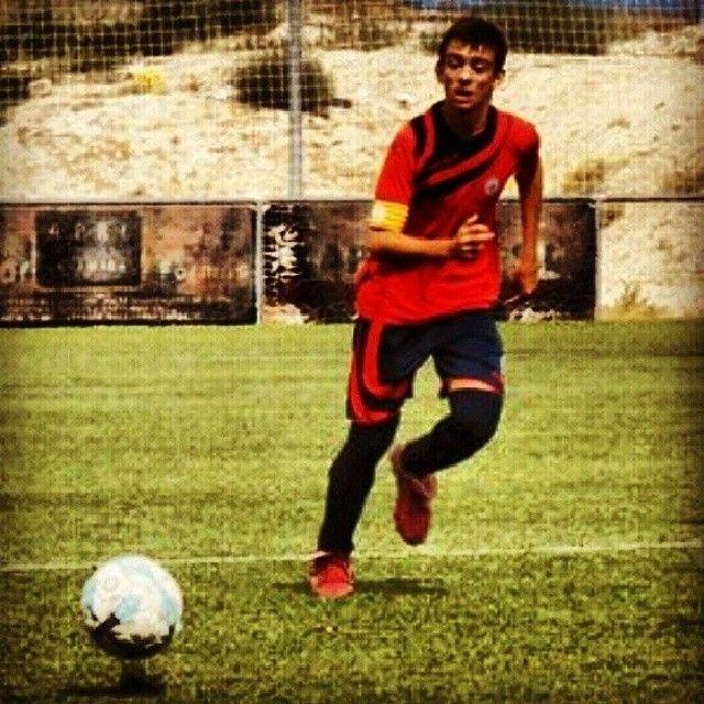 Después de mes y medio lesionado vuelves a entrenar, hijo...mucho ánimo, crack!!! #TeQuiero #futbol