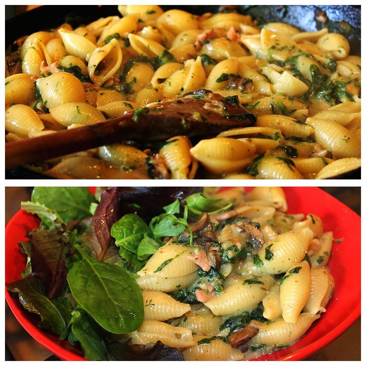Slimming world recipes and other ramblings.: Pasta alfredo - Or pasta in a creamy spinach and bacon sauce!
