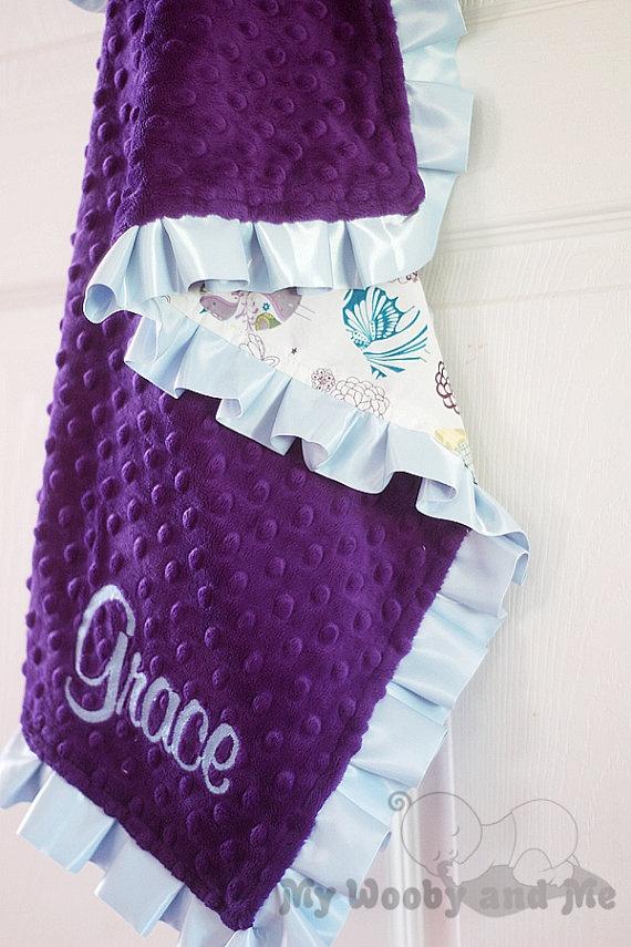 Beautiful minkie blanket with ruffle