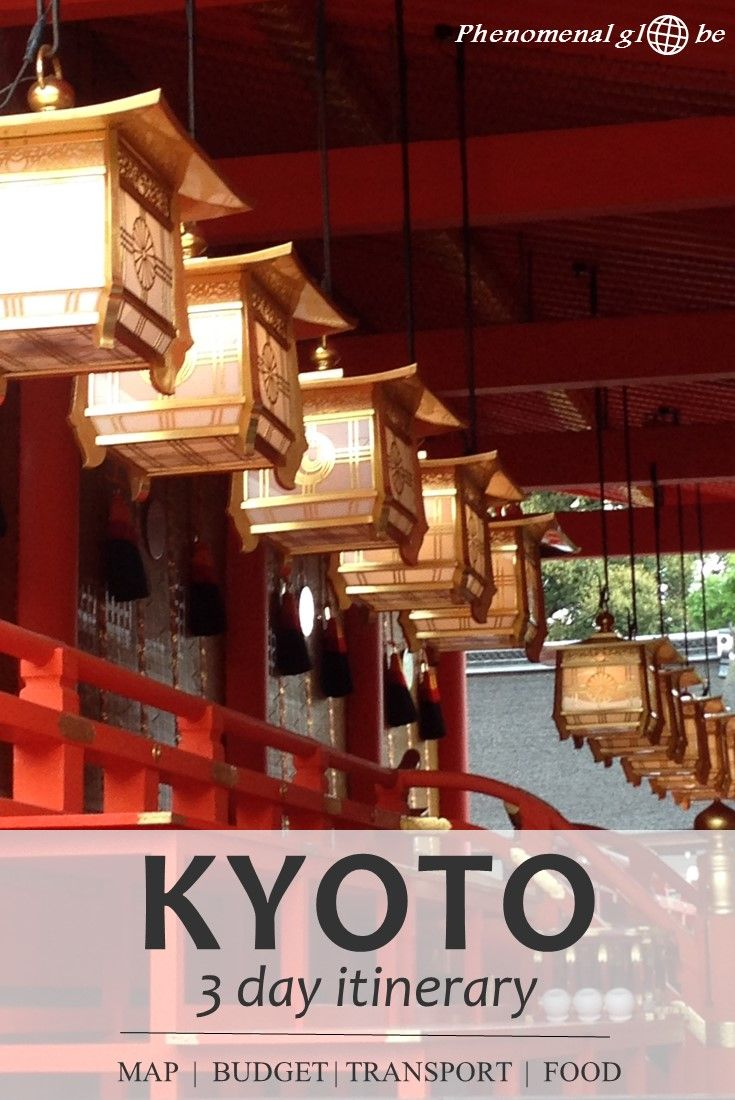 3 day itinerary for Kyoto: budget information, Kyoto highlights (Kinkaku-ji, Fushimi Inari Taisha, Arashiyama Bamboo Forest and much more), recommended accommodation, transport information and where to eat delicious food! Plus downloadable map and budget breakdown infographic. #Japan #Kyoto