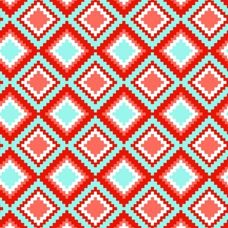 KOHANA- Coral Geo Diamond - Southwestern Fabric- 3 Wishes Fabrics -Coral -Cotton Fabric - Quilting- Sewing - Crafts- By the yard & Half yard  Fabric details:  100% Cotton, 44 wide. This fabric is from a smoke-free, pet-free cottage.  If you would like an amount other than a half or full yards, please send us a convo and we will do a custom listing for you. We can ship up to 10 yards in a padded flat-rate envelope.  Flat Rate Shipping in the US. We automatically ship all fabric orders via ...