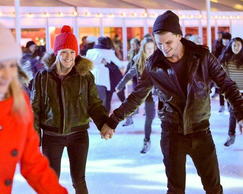 Ellie Goulding Jeremy Irvine. Ice Skating Date - Capital FM