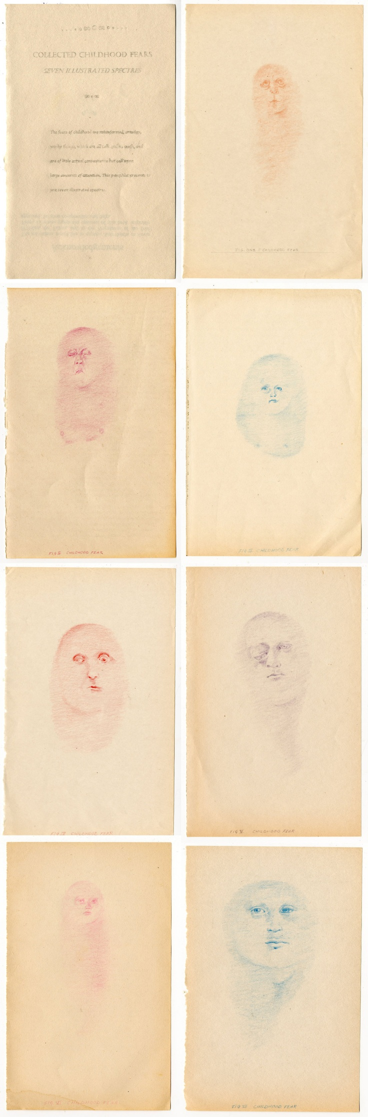 Collected Childhood Fears, Seven Illustrated Spectres,  Eleanor Phillips, 2013