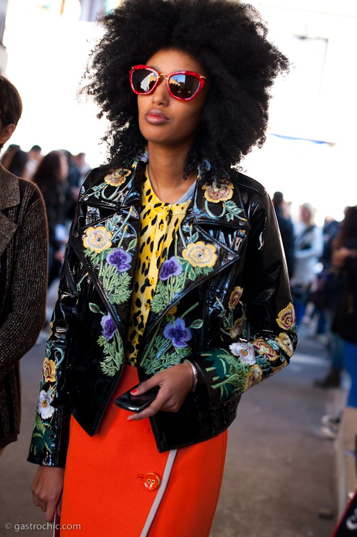 Julia Sarr-Jamois, outside Marni, by Gastro Chic ... yea yea baby Afro Chic!