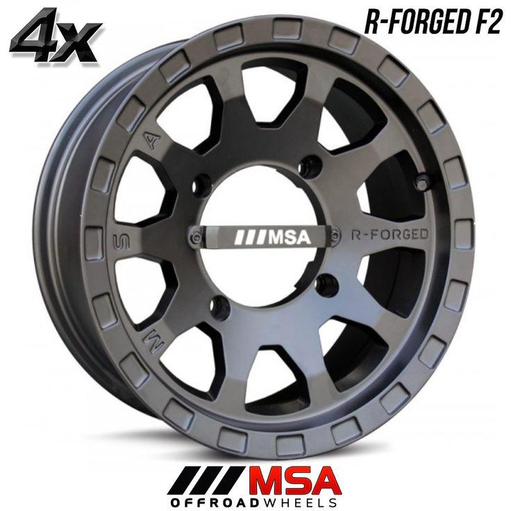 4 MSA R-Forged F2 14x7 4x137.00 Black OFST:0mm 14 Inch Rims 14X7 Wheels