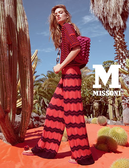 #MMissoni Advertising Campaign | Spring Summer 2015 | Frida Kahlo | Mexico | PAWL-STITCH JACKET AND ZIGZAG PALAZZO PANTS