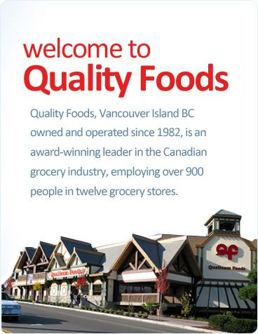 """Quality Foods serves hot Chinese food, among other deli foods. Upstairs is """"A Step Above"""", a chic shop serving desserts and Starbucks coffee. #qualityfoods #grocerystore #deli #chinesefood #icecream #starbucks #coffee #tea #desserts #qualicumbeach #vancouverisland"""