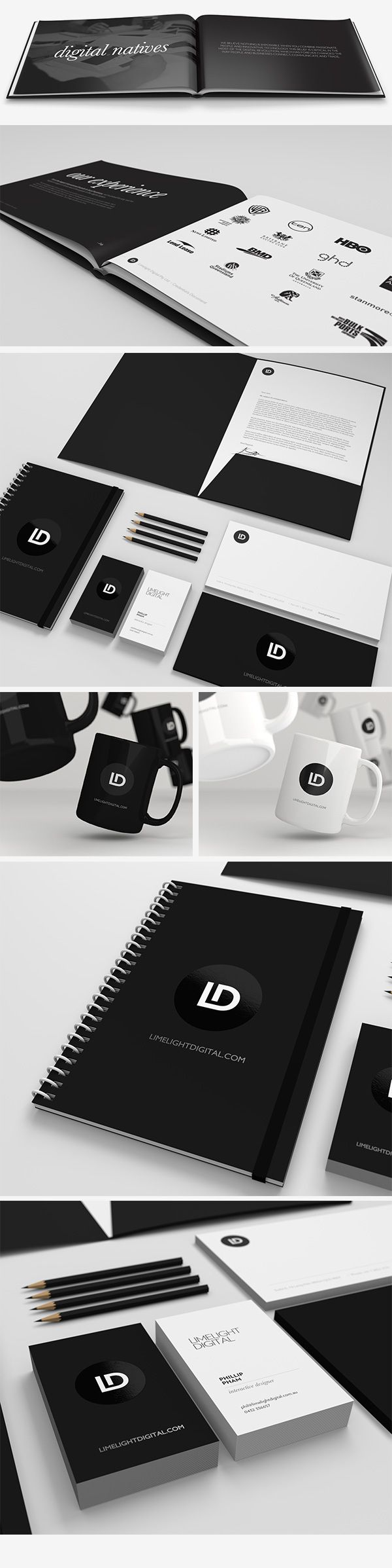 Limelight Digital, Re-Brand by Fred Nerby | #stationary #corporate #design #corporatedesign #logo #identity #branding #marketing <<< found on www.behance.net pinned by an #advertising agency from #Hamburg / #Germany - www.BlickeDeeler.de | Follow us on www.facebook.com/BlickeDeeler