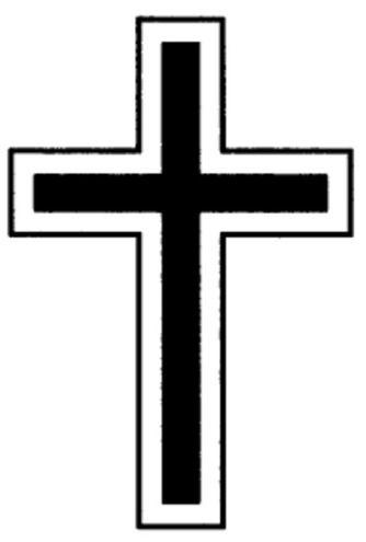 Lateinisches Kreuz umrandet | L71F | Silhouette und Calendar