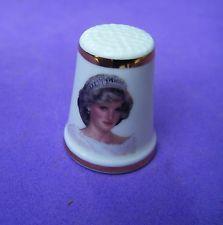 Thimble Royal Grafton Bone China Princess Diana 25 th Birthday July 1, 1986