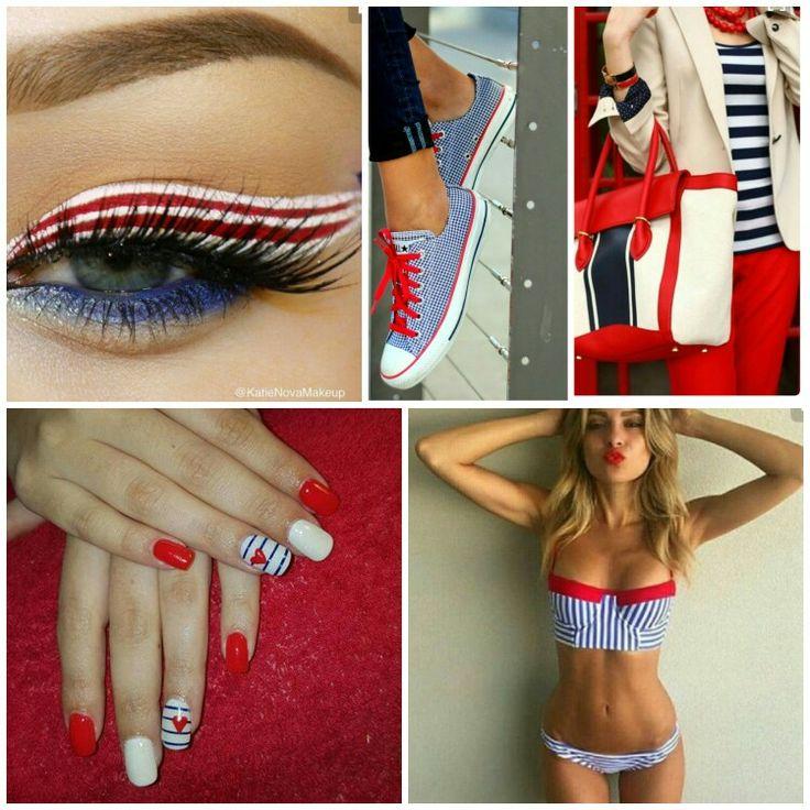 Navy nails @renemassyn
