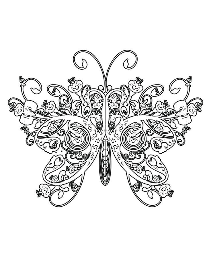 The Butterfly Has Wings Like Queen Coloring Page