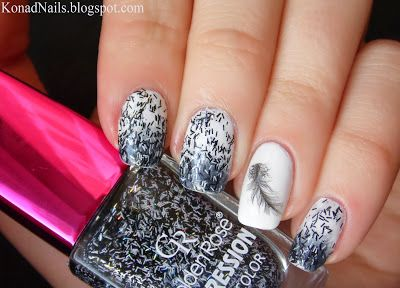 89 best fantastic feather nail art images on pinterest feather hi today ill show you a manicure that is very easy to do without any other introduction let me tell you how i did it i firstly crea prinsesfo Gallery