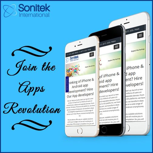 Become a part of the apps revolution! Know More Here: www.sonitek.ca  #mobileapps #iphoneapps #ios #apps