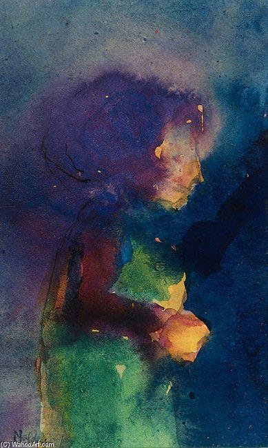 'Una niña' de Emil Nolde (1867-1956, Denmark)