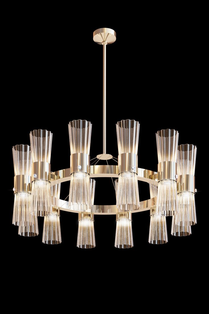 2305 best chandelier images on pinterest chandeliers light modern gold leaf murano glass chandelier arubaitofo Image collections