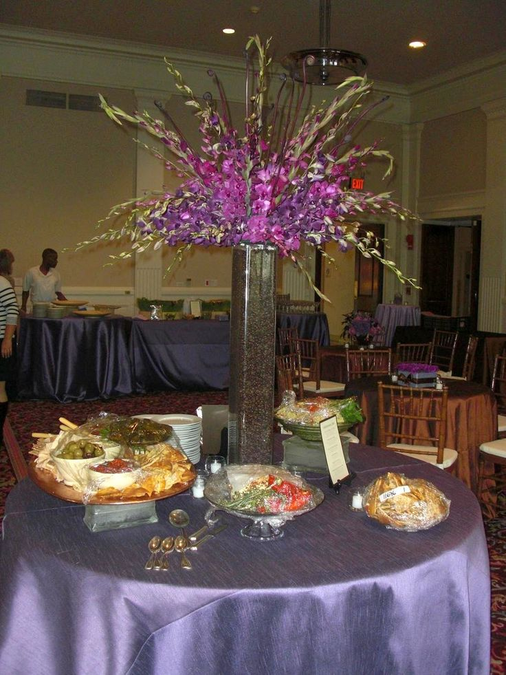 Tall Purple Floral Centerpieces : Tall purple wedding centerpieces owen and ashley s