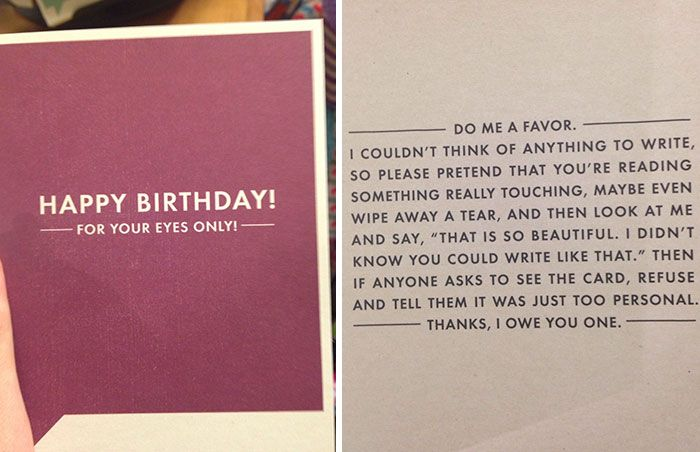 Card a for you birthday someone write are what dating in to What To